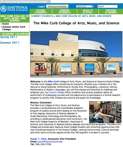 Daytona State College - Mike Curb College of Arts, Music, and Sciences